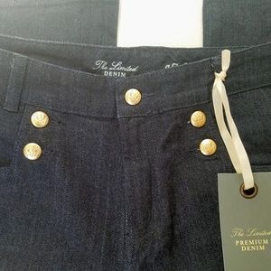 The Limited Flared Premium Denim Sailor Trousers